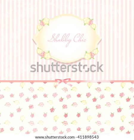 Beautiful flowerpatterned background shabby chic wedding stock beautiful flower patterned background shabby chic wedding invitation vector illustration floral save stopboris Choice Image