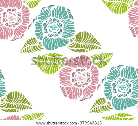 Beautiful flowers are well used in your projects. Seamless background