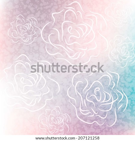beautiful flowers as made with color filters. vector - stock vector