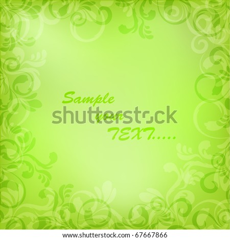 Beautiful frame. Vector format 10 eps - stock vector