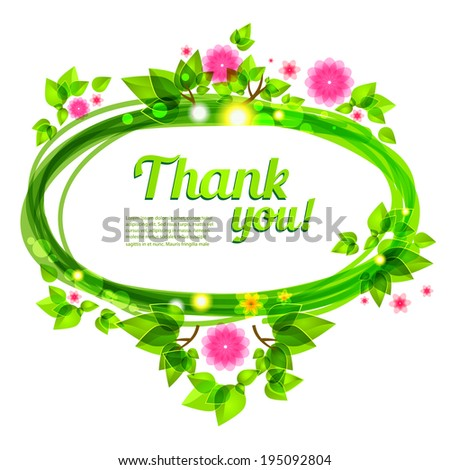 Beautiful frame with green leaves and flowers. Vector frame for holiday and events - stock vector