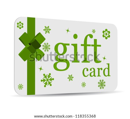 Beautiful gift card - stock vector