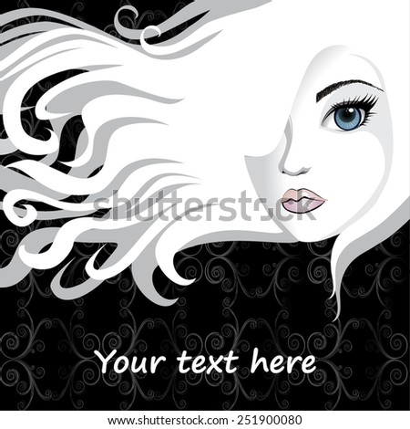 Beautiful girl over background vector - stock vector
