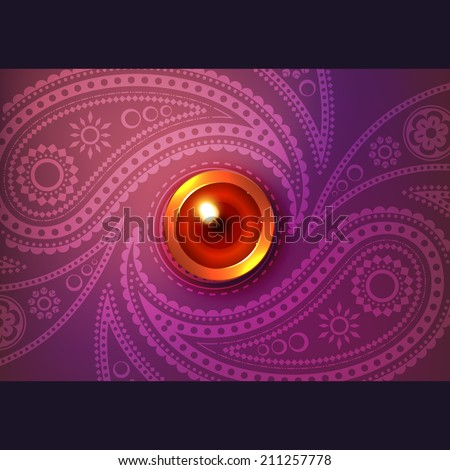 Beautiful glowing diwali vector background - stock vector