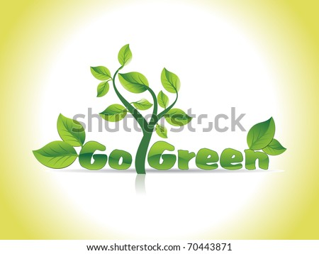 beautiful go green concept background, vector illustration - stock vector