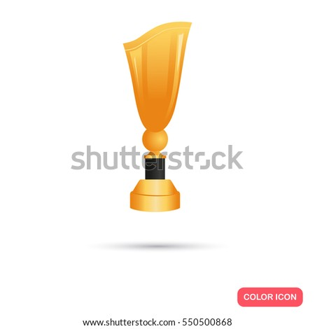 Beautiful golden trophy cup icon