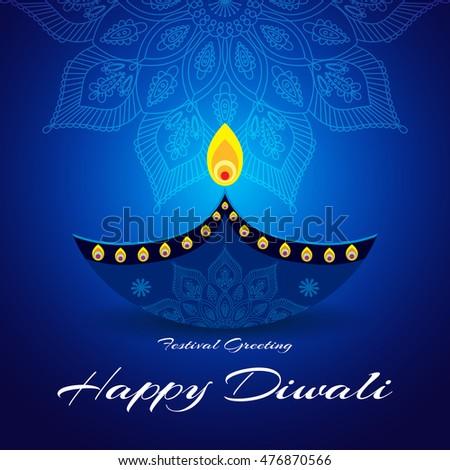 beautiful greeting card hindu community festival stock