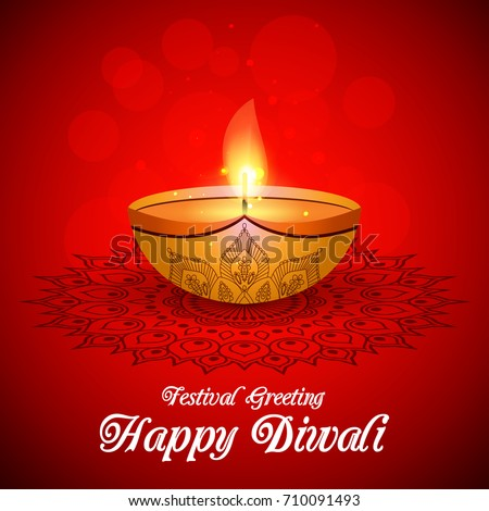 Beautiful greeting card hindu community festival stock vector hd beautiful greeting card for hindu community festival diwali happy diwali traditional indian festival colorful m4hsunfo