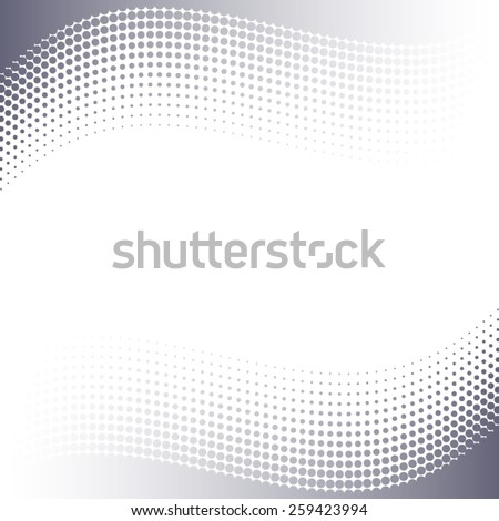Beautiful grey vector abstract background with halftone effect - stock vector