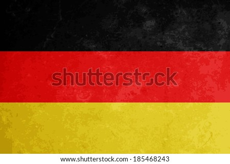 beautiful grunge textured flag design of Germany. vector illustration