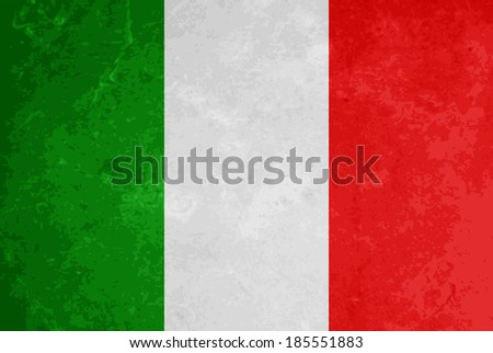 beautiful grunge textured flag design of Italy.