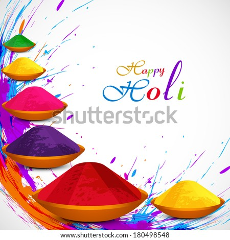 Beautiful gulal colorful background of holi festival grunge design illustration vector - stock vector