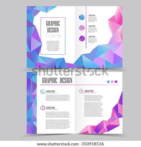 Beautiful Halffold Brochure Template Design Crystal Stock Vector Hd