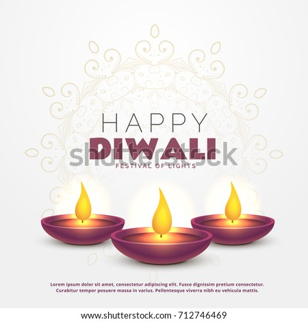 Beautiful happy diwali greeting burning diya stock vector 712746469 beautiful happy diwali greeting with burning diya for festival of lights m4hsunfo