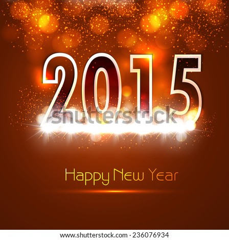 Beautiful Happy new year 2015 bright colorful celebration vector - stock vector
