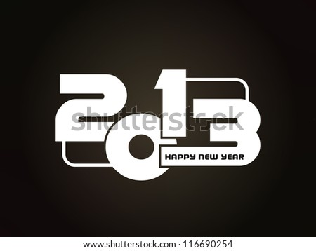 beautiful happy new year 2013 design. - stock vector