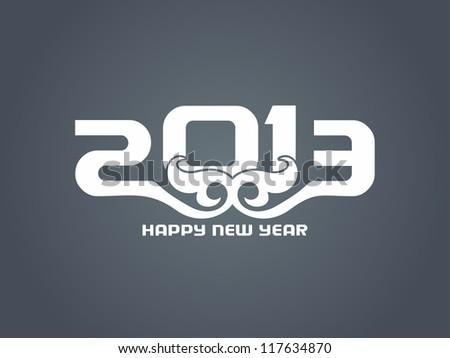 beautiful happy new year 2013 design - stock vector