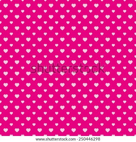 Beautiful heart love background backdrop wallpaper seamless pattern valentine pink - stock vector