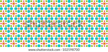 beautiful horizontal patterned background - stock vector