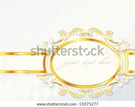 Beautiful horizontal rococo wedding banner. Includes transparencies (Eps10); JPG version also available - stock vector