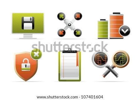beautiful icons - stock vector