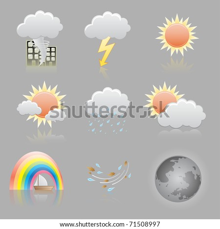Beautiful icons for your application. - stock vector