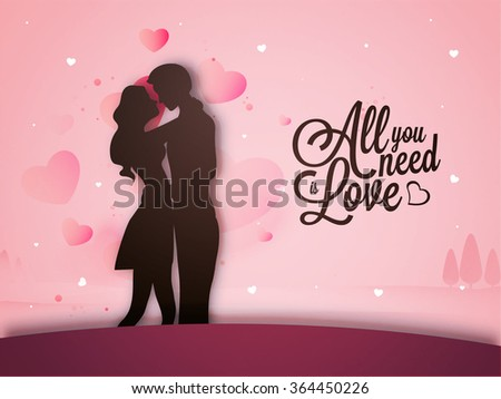 Beautiful Illustration Young Couple Love On Stock Vector 364450226 ...