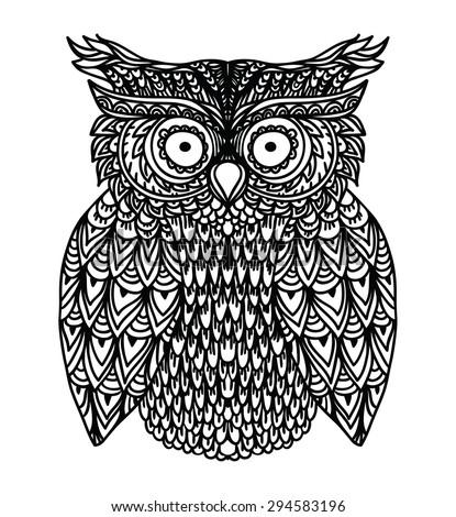 Beautiful illustration cartoon owl vector greeting stock vector beautiful illustration with cartoon owl in vector for greeting card and invitation stopboris Choice Image
