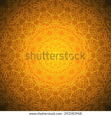 Beautiful Indian Pattern Design (EPS10 Vector) - stock vector