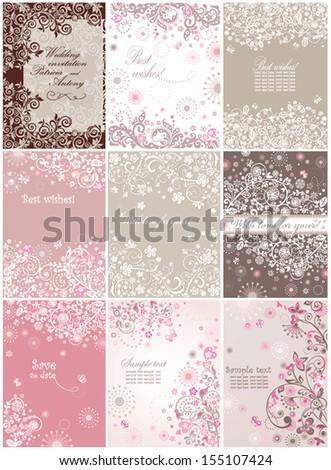 Beautiful invitations - stock vector