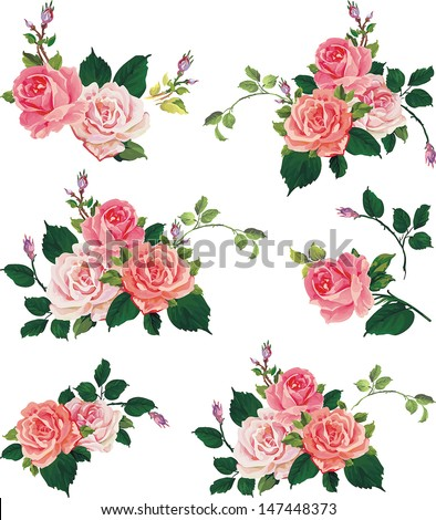 Floral border stock images royalty free images vectors beautiful isolated flowers on the white background set of different beautiful floral design elements altavistaventures Images