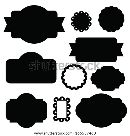Beautiful Label Set - stock vector