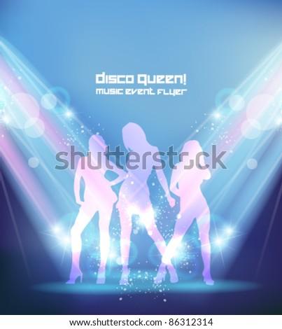 beautiful ladies in the nightclub - stock vector