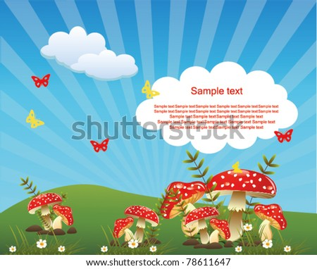 beautiful landscape - stock vector