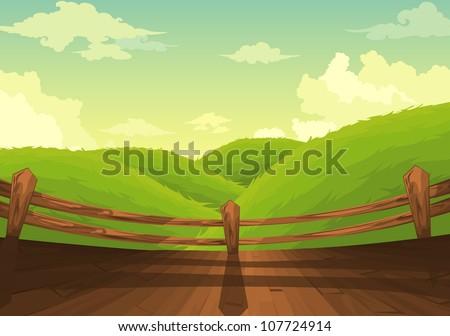 Beautiful Landscape Background - stock vector