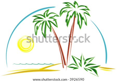 Beautiful Landscape (Vector) - stock vector