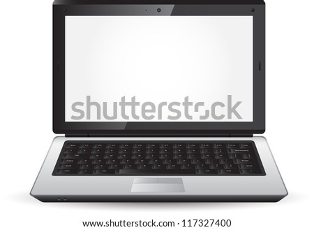Beautiful laptop icon for your design - stock vector