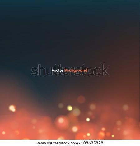 Beautiful lighting night unfocused in red. Vector Design. - stock vector
