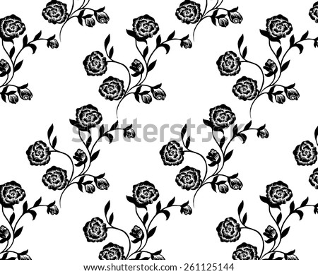 beautiful lined bouquet of black roses. - stock vector
