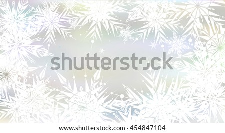 Beautiful, magic Christmas background with light snowflakes