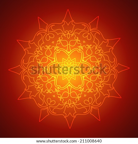 Beautiful Mandala Background (EPS10 Background) - stock vector