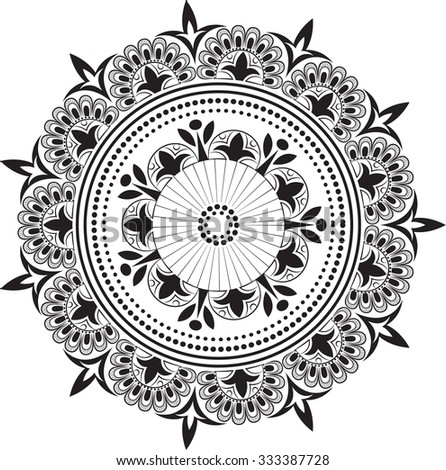 Beautiful mandala. Tattoo. - stock vector