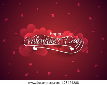 beautiful maroon color love background for valentine's day. vector illustration - stock vector