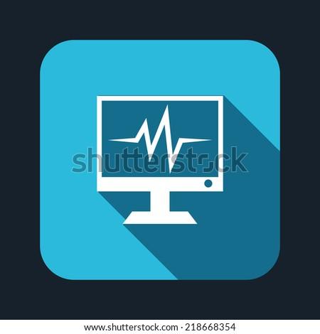 Beautiful Medical Monitor web icon - stock vector