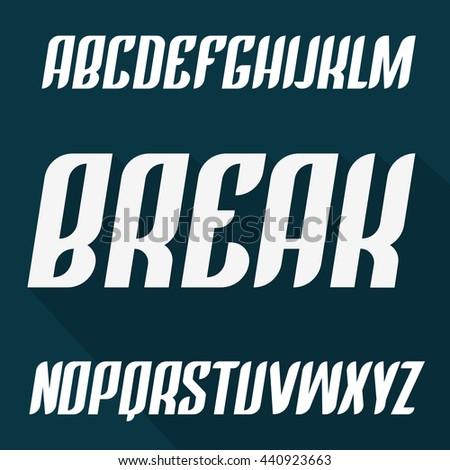 Beautiful Modern Italic English Font Alphabet Letters Typeface Capital Vector