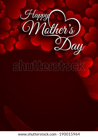 Beautiful mother's day Background design with space for text. vector illustration
