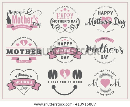 Beautiful mothers day badges labels design stock vector hd royalty beautiful mothers day badges and labels design for decoration sticker gift tags web negle Images