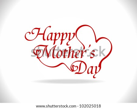 Beautiful mother's day design - stock vector