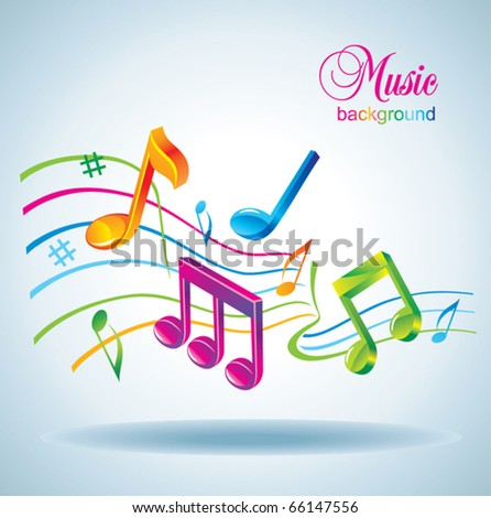 Beautiful music background. - stock vector