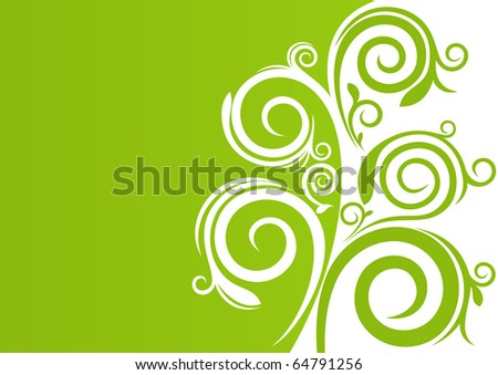 Beautiful natural background with floral elements and free space for Your text - stock vector